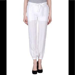 Silk White casual sweat joggers pants